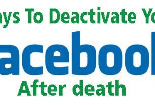 Deactivate facebook account after death