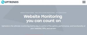 uptrends free website alert
