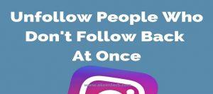 Follow and Unfollow
