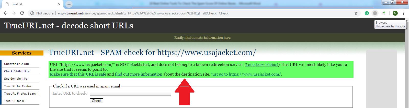 TRUE URL.NET1