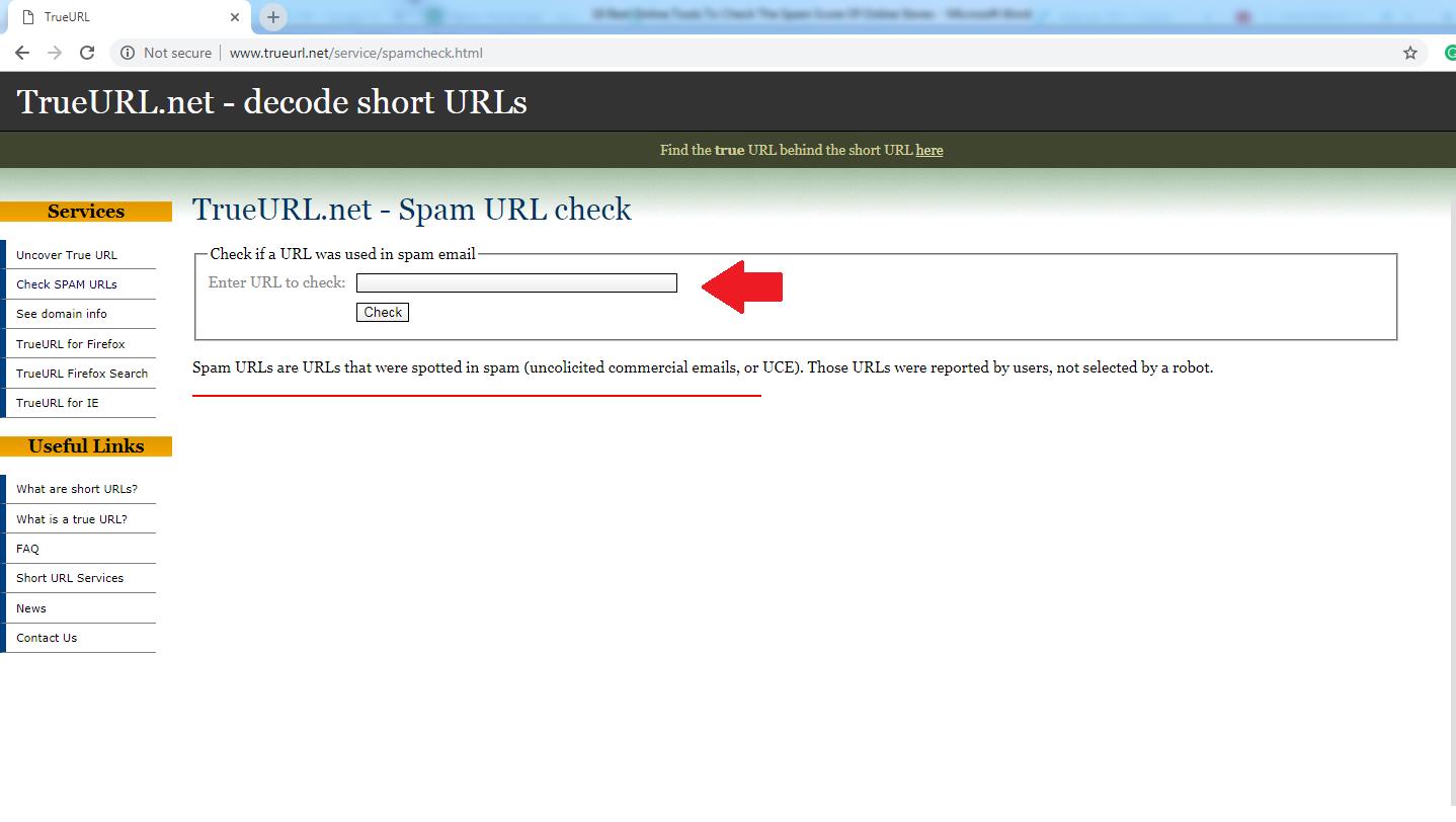 TRUE URL.NET